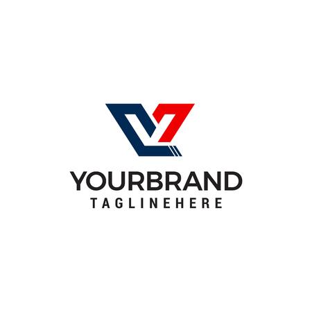 lettre V capital logo design concept template vecteur
