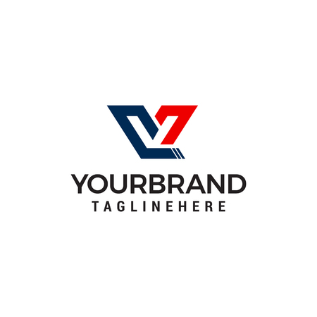 letter V capital logo design concept template vector