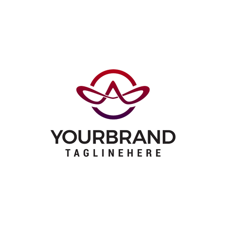 letter A elegant logo design concept template vector