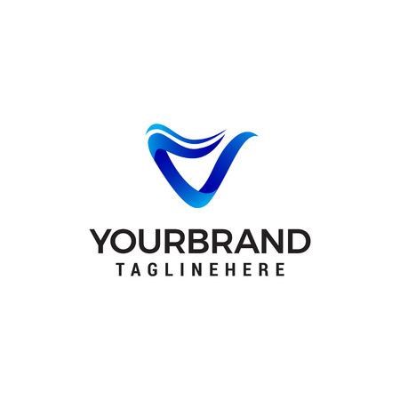 letter v modern logo design concept template vector