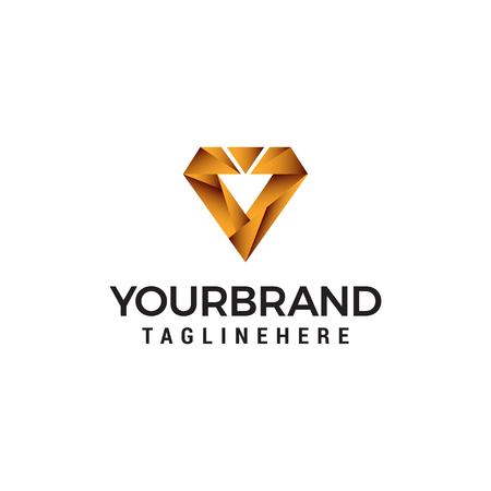 digital letter v logo design concept template vector Ilustração