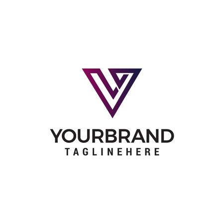 letter v abstract logo design concept template vector