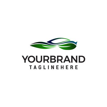 auto green car logo design concept template vector