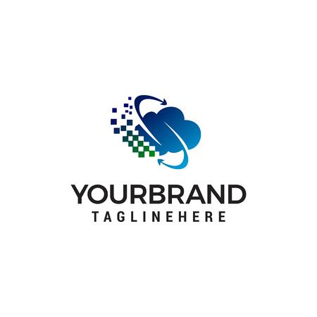 cloud logo design concept template vector