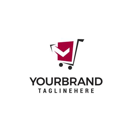 cart logo design concept template vector Illustration