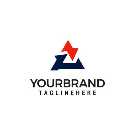 letter A logo design concept template vector Illustration