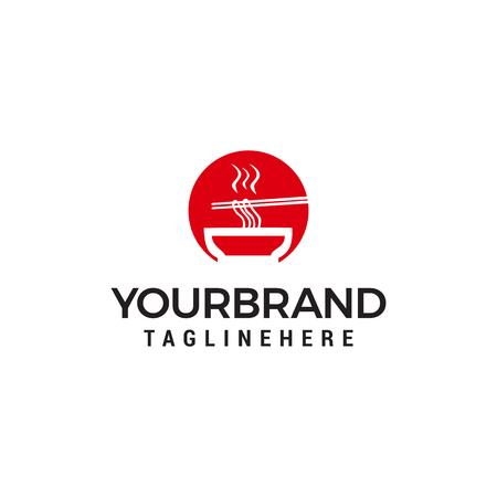 restaurant noodle logo design concept template vector Ilustração