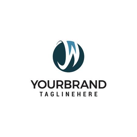 letter W logo design concept template vector