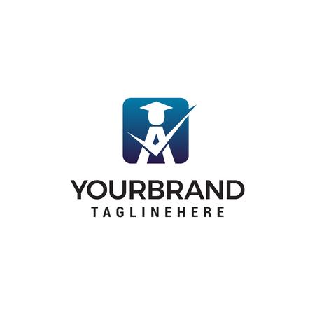 student a logo design concept template vector