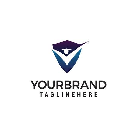 student shield logo design concept template vector