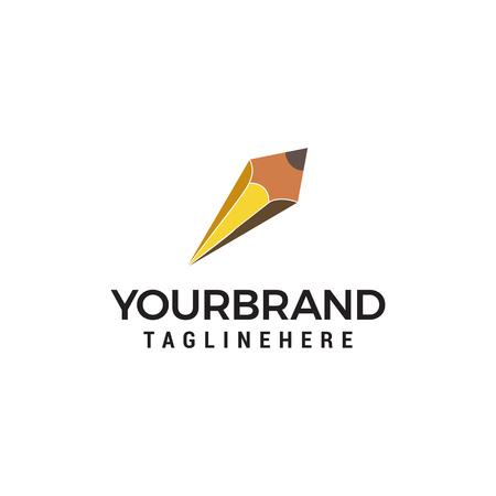 pencil logo design concept template vector