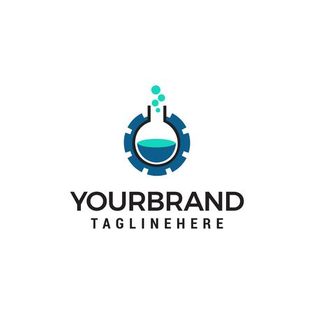 technology laboratory logo design concept template vector