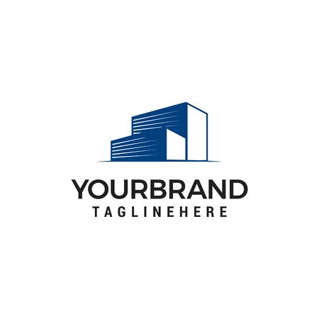building garage logo design concept template vector