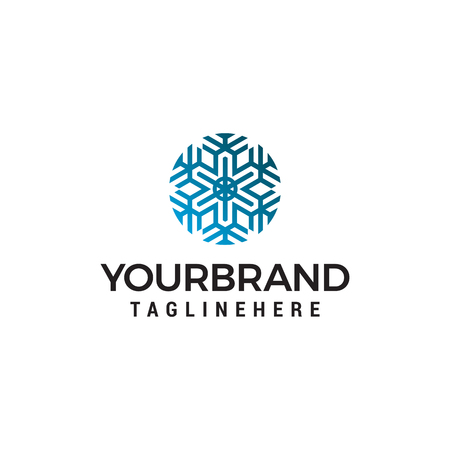 snowflake logo design concept template vector Illustration