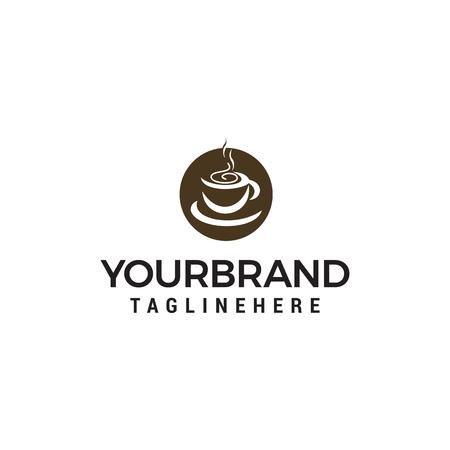 coffee cup logo design concept template vector