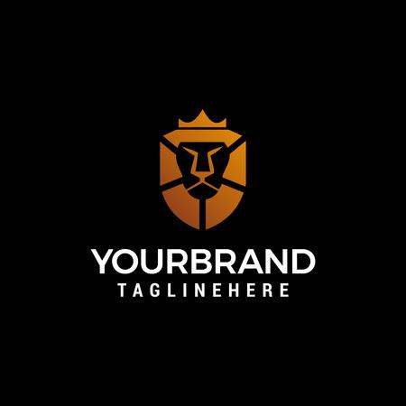 lion king logo design concept template vector Ilustração