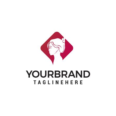 face women logo design concept template vector Ilustração
