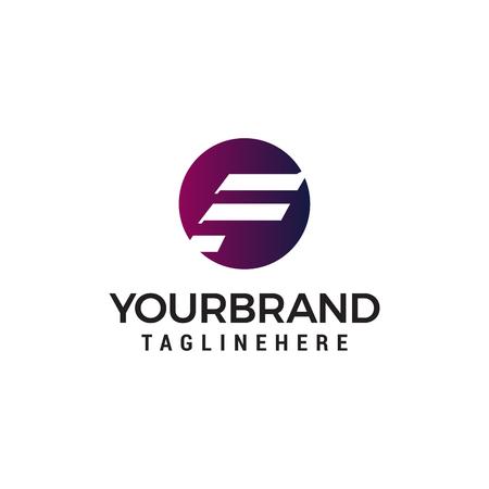 letter F capital logo design concept template vector