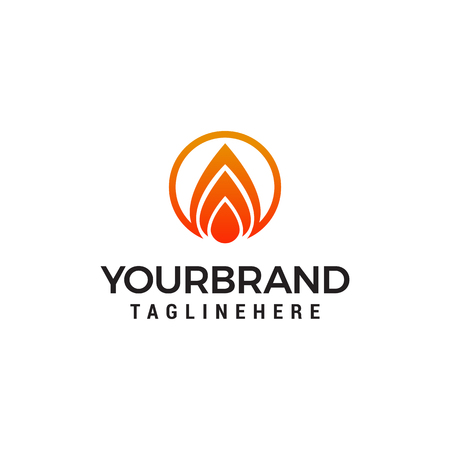 fire flame logo design concept template vector