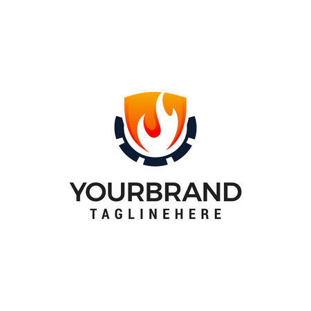 flame industry logo design concept template vector. Oil Industry Logo Template Standard-Bild - 123107143