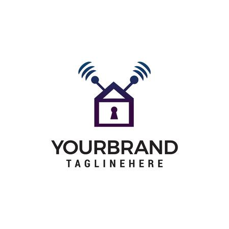 home security logo design concept template vector Foto de archivo - 123107150