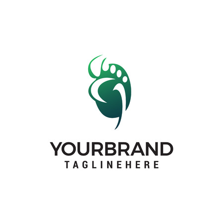 foot care logo design concept template vector