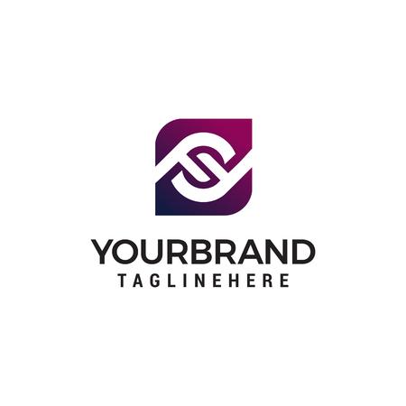 letter ff logo design concept template vector Illustration