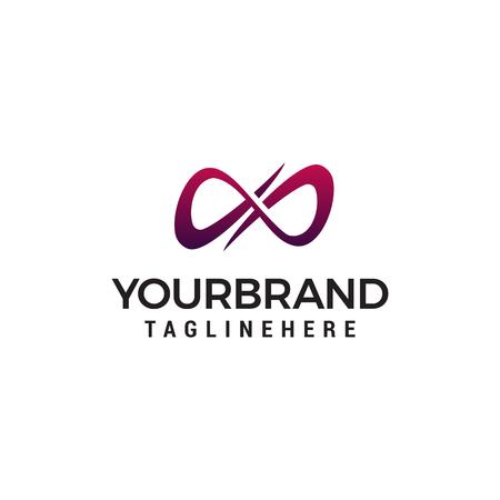 unendlicher Logo-Design-Konzept-Vorlagenvektor
