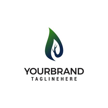 flame nature logo design concept template vector