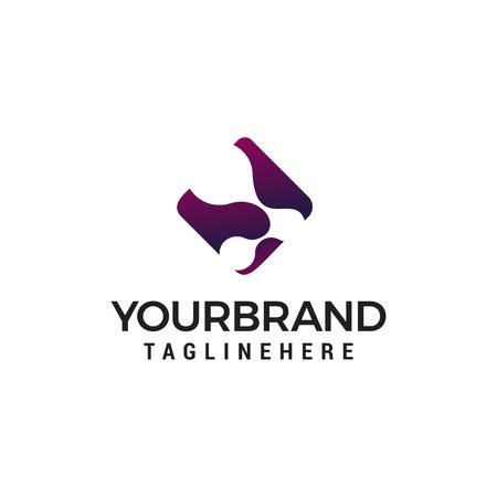 Molecule logo design concept template vector