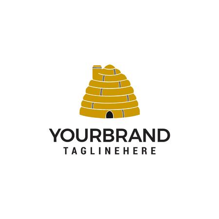 vecteur de modèle de concept de conception de logo de maison d'abeille Logo