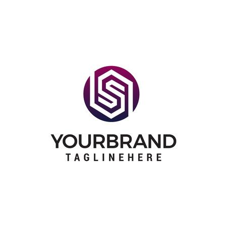letter s logo ontwerp concept sjabloon vector