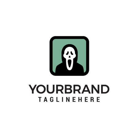 ghost logo design concept template vector