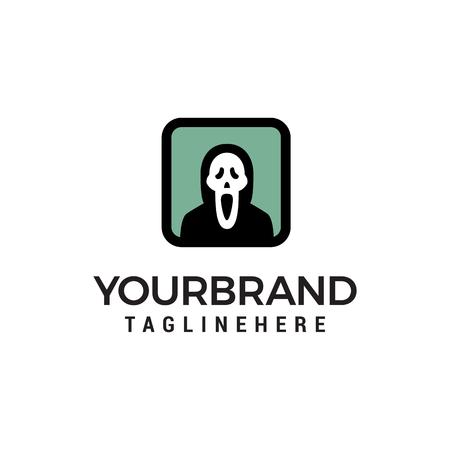 ghost logo design concept template vector