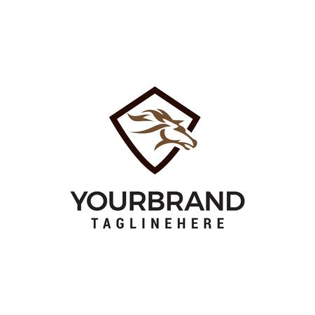 head horse abstract logo design concept template vector
