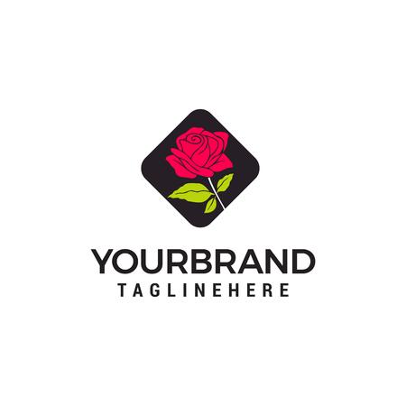 vettore del modello di concetto di design del logo della rosa