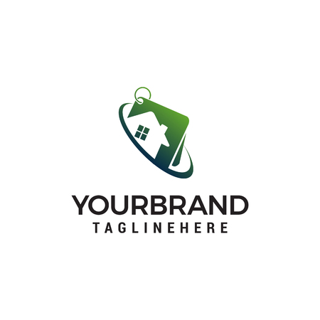 property house logo design concept template vector  イラスト・ベクター素材