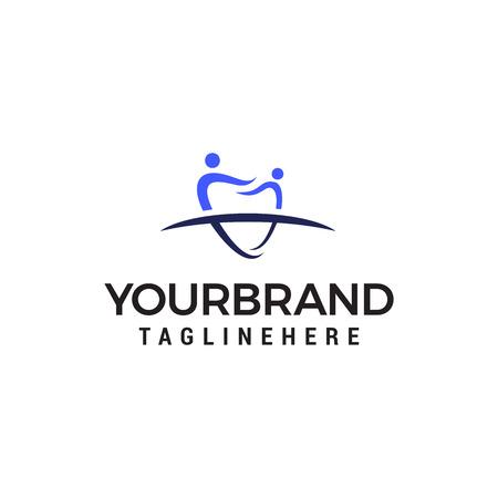 people tooth logo design concept template vector Иллюстрация