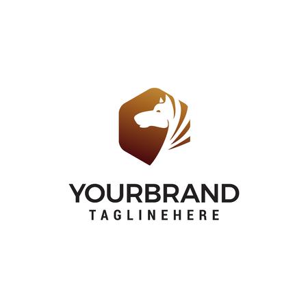 head horse logo design concept template vector Logo