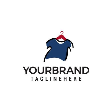 clothes logo design concept template vector