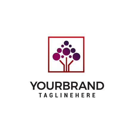 molecule technology logo design concept template vector
