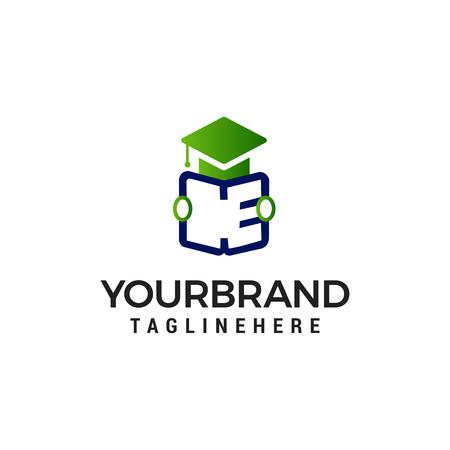 student open book logo design concept template vector