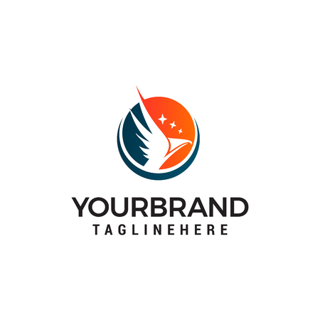 aigle avec étoile logo design concept template vecteur Logo