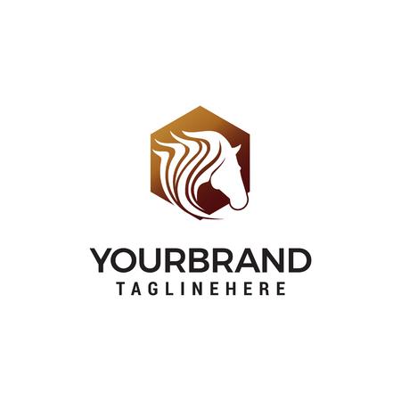 head pegasus logo design concept template vector Logo