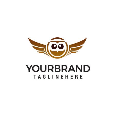 owl logo design concept template vector