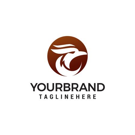 head eagle logo design concept template vector Stock Illustratie