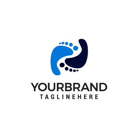 Foot Care logo design concept template vector 向量圖像