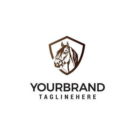 head horse logo design concept template vector