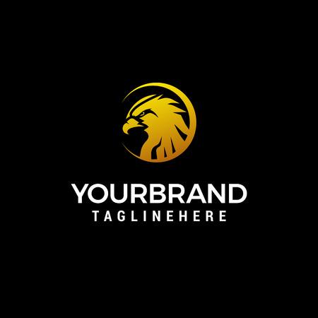 head eagle logo design concept template vector Illustration