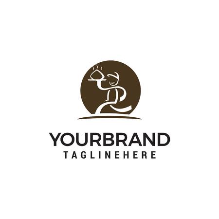 chef logo design concept template vecteur Logo
